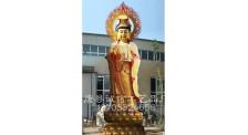 寺庙观音铜佛像