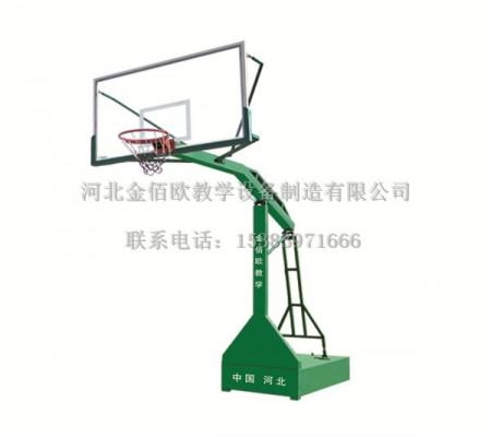 固定式平箱凹箱篮球架