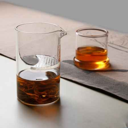 玻璃半月滤片泡茶杯