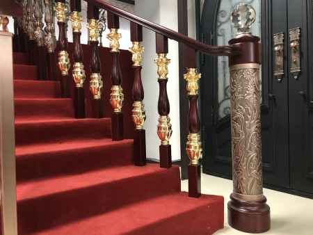 欧式铝艺铜艺楼梯护栏